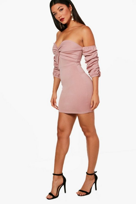 Elsie Off the Shoulder Bodycon Dress