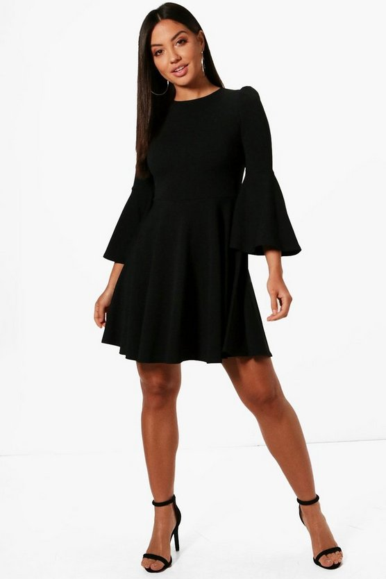 Mollie Flared Sleeve Skater Dress