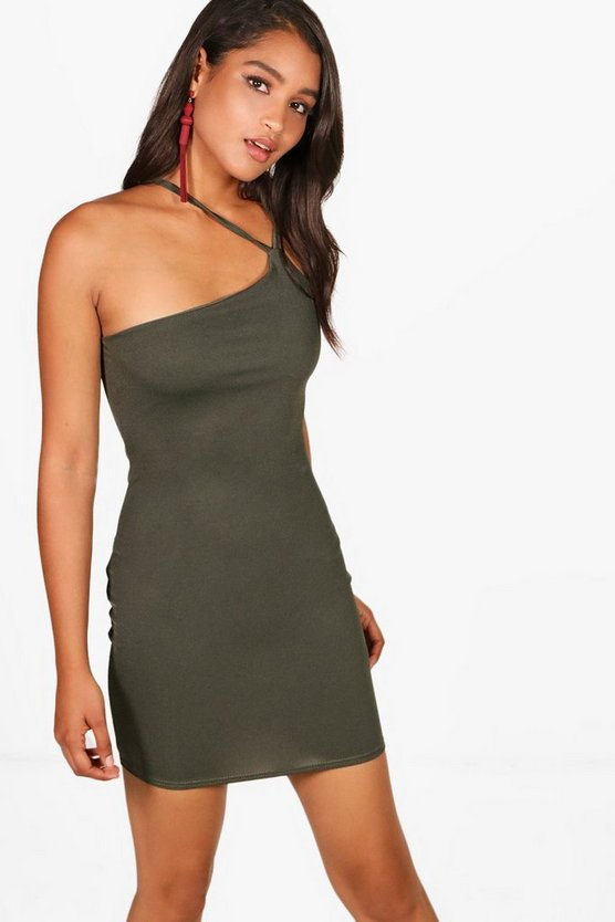 Crepe Strappy Bodycon Dress