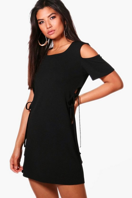Charlotte Tabbard Tie Side Shift Dress