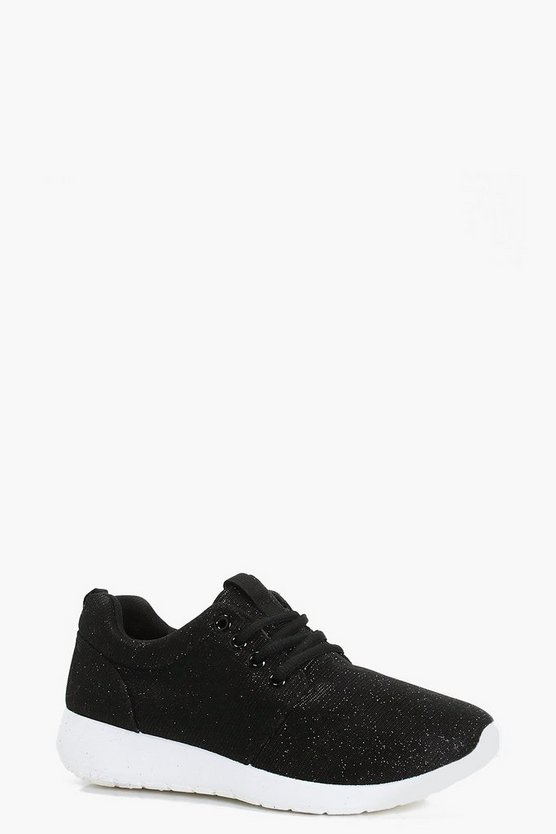 Lola Metallic Lace Up Sports Trainer