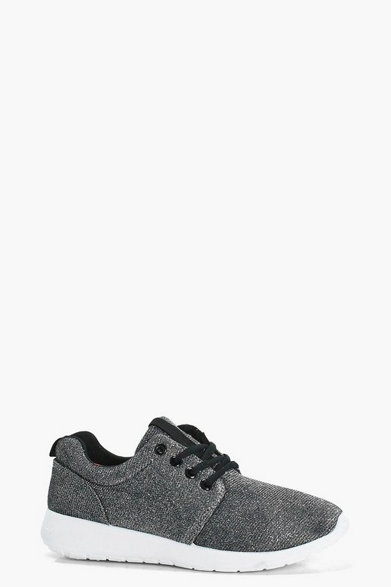 Lola Metallic Lace Up Sports Trainers