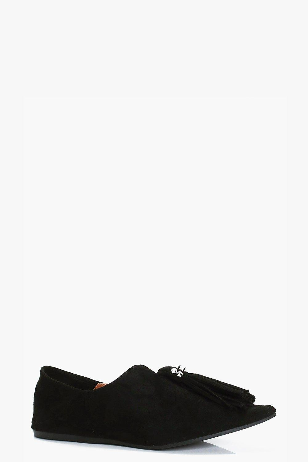 Boohoo-Macy-Chaussures-Plates-Pointues-A-Pampilles-pour-Femme