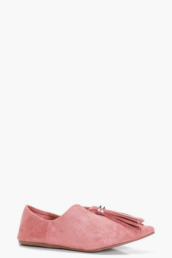 Macy Tassel Pointed Flats