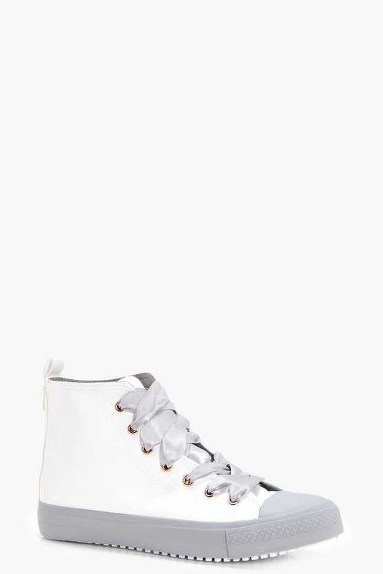 Lucy Ribbon Lace Two Tone High Tops