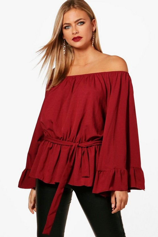 Lucy Off The Shoulder Flare Sleeve Top