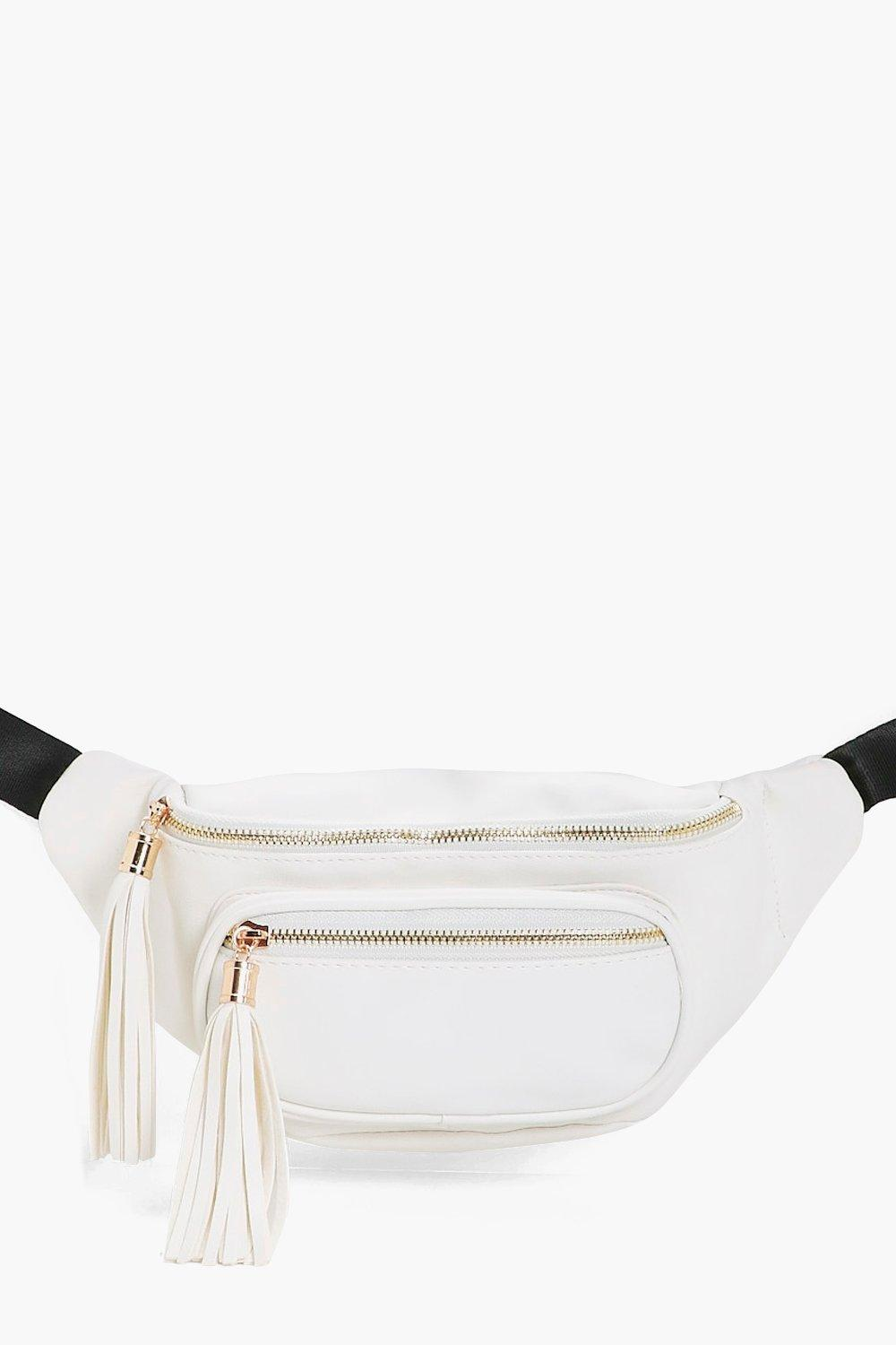 Pocket And Tassel Bumbag - cream - Lily Pocket And