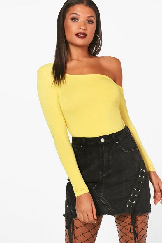 Basic Square Neck Long Sleeve Top