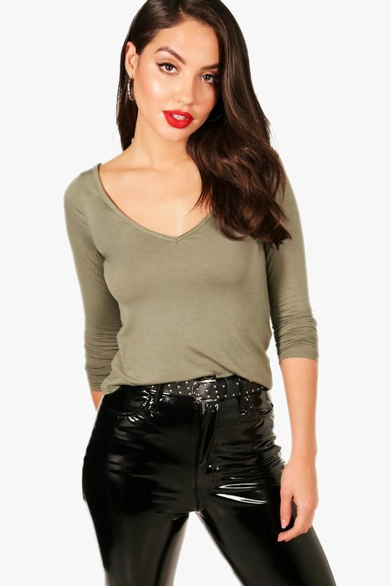 Callie Wide Open Neck Long Sleeve Top