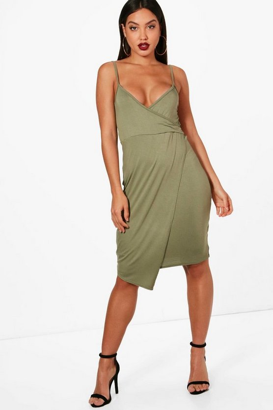 Florence Strappy Wrap Top Bodycon Dress