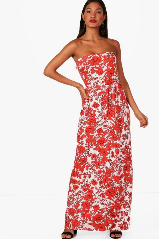 Imi Floral Off Shoulder Maxi Dress