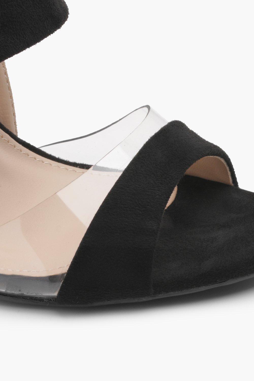 Lauren Block Heel Clear Insert Heels zGtYN