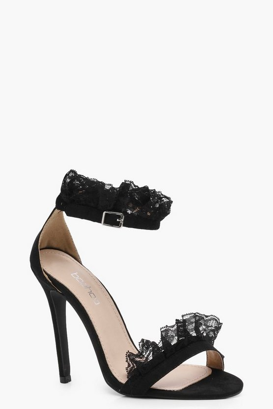 Kate Lace Trim 2 Part Heels