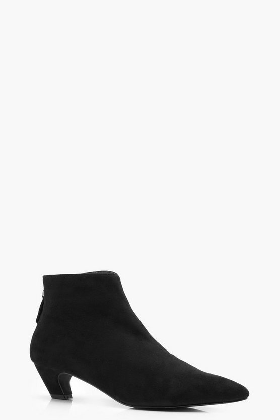 Pointed Toe Low Ankle Boots