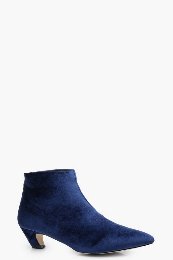 Josie Pointed Toe Low Ankle Boot