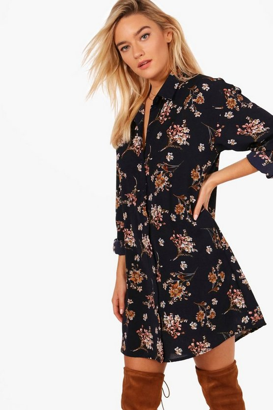Kayla Long Sleeved Shirt Dress