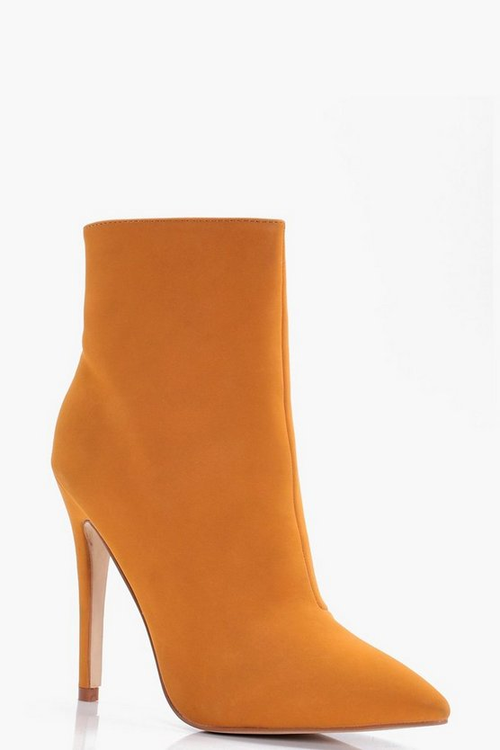 Caroline Pointed Heeled Stiletto Sock Boot