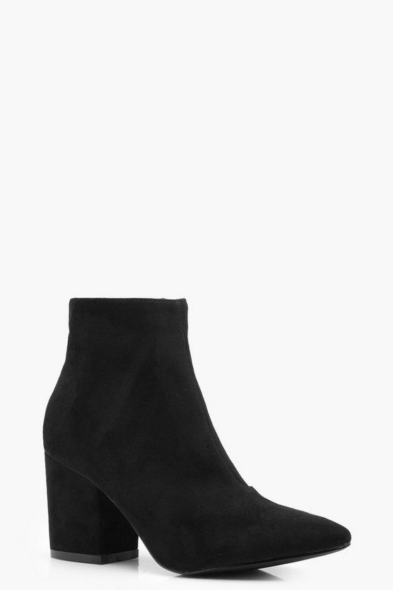 Evie Pointed Block Heel Shoe Boots