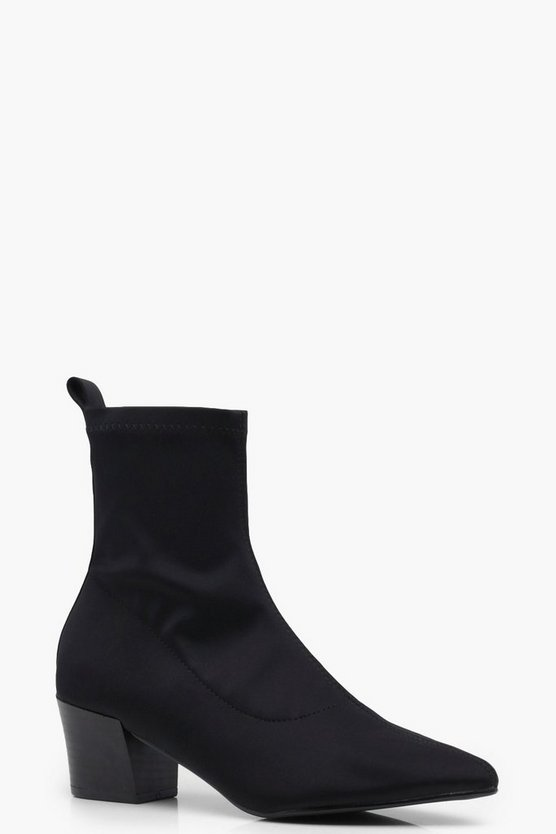 Isabella Stretch Sock Pointed Ankle Boots