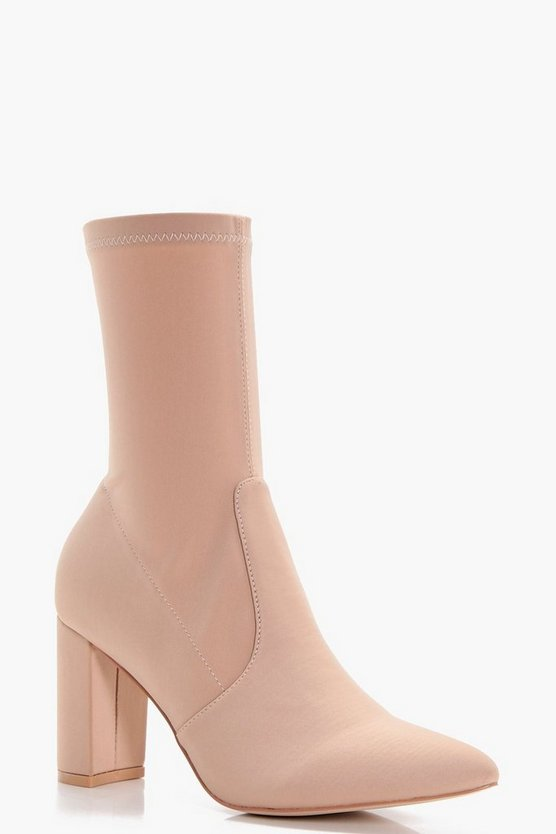 Sophie Stretch Pointed Toe Sock Shoe Boots