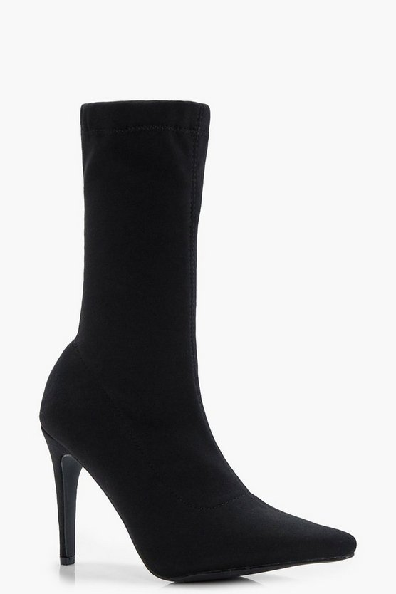 Emily Pointed Toe Stiletto Sock Boot