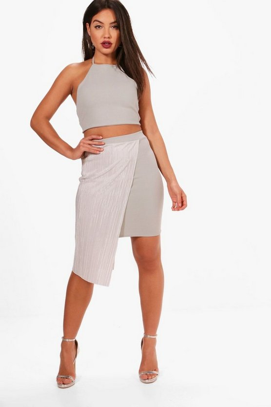 Carla Strappy Crop and Pleated Mini Skirt Set