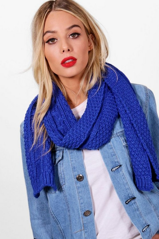 Ashley Chunky Cable Knit Scarf