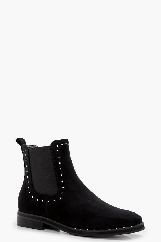 Cerys Stud Trim and Rand Chelsea Boots