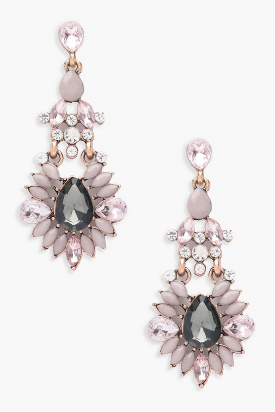 Liza Statement Diamante Gem Earrings