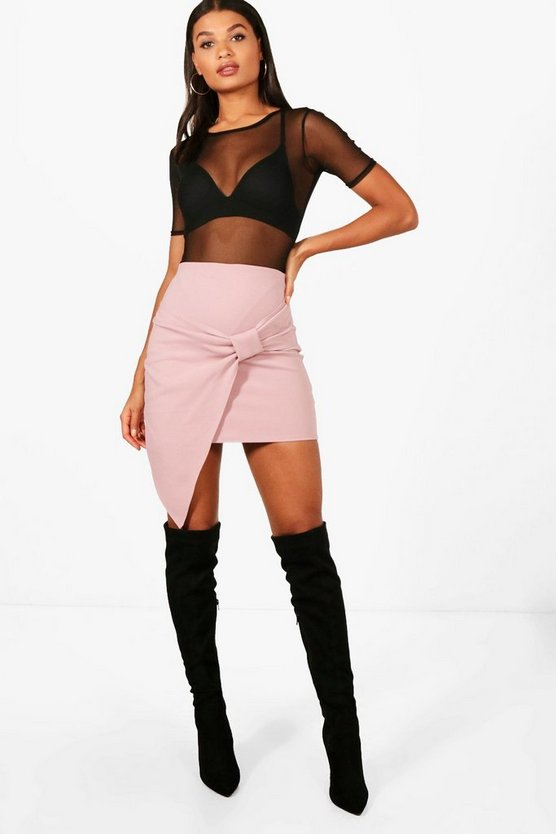 Beatrix Knot Front Mini Skirt