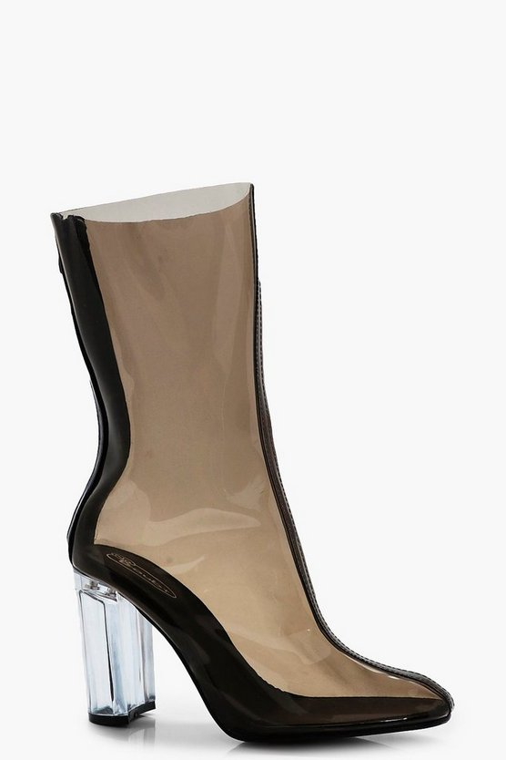 Ivy Clear Sock Ankle Boot