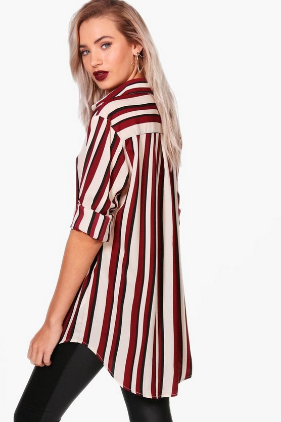 Eva Striped Oversized Blouse