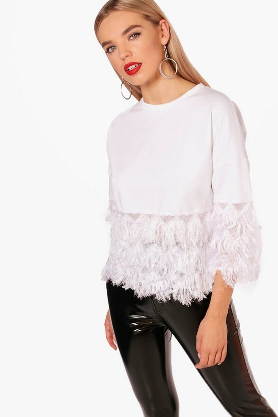 Sophie Tassel Trim Sweat