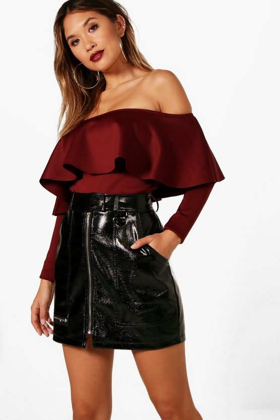 Vanesssa Long Sleeve Frill Bodysuit