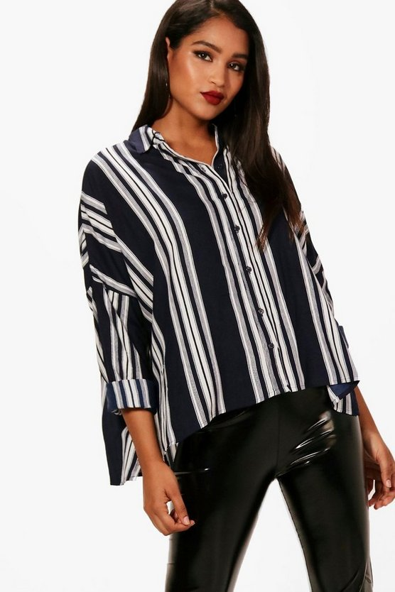 Jorgie Stripe Oversized Shirt