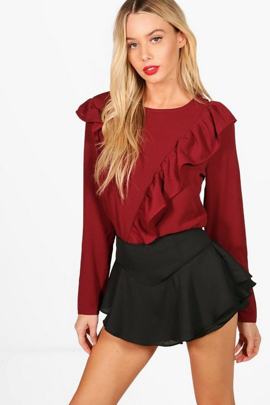 Maisie Frill Front Woven Top