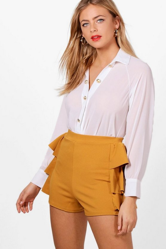 Hannah Woven Button Detail Shirt Body
