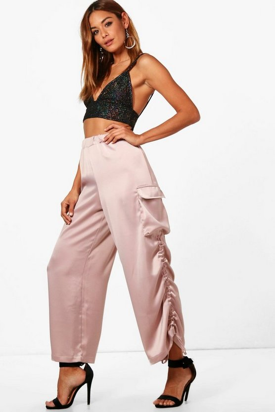Delilah Satin Utility Relaxed Jogger