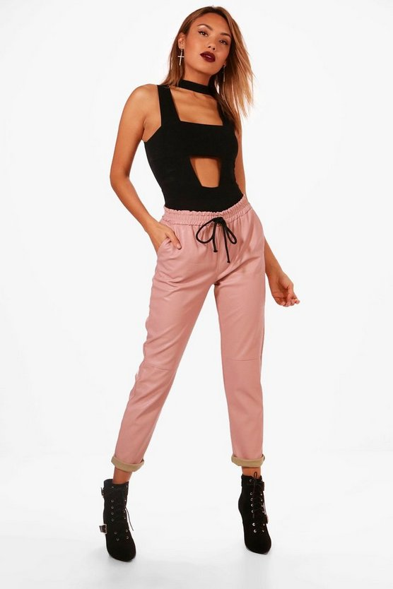Charlotte Premium PU Relaxed Jogger