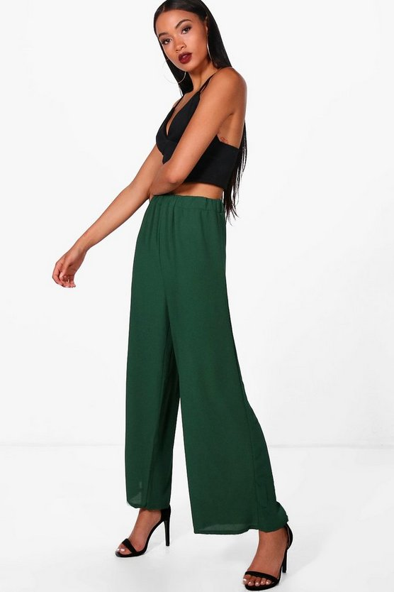Gabrielle Wide Leg Textured Trouser