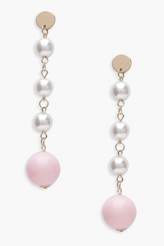 Lilia Pearl Drop Contrast Earrings