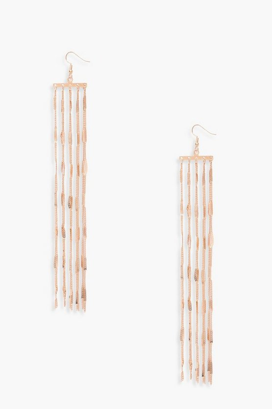 Isolde Tassel Chain Earrings