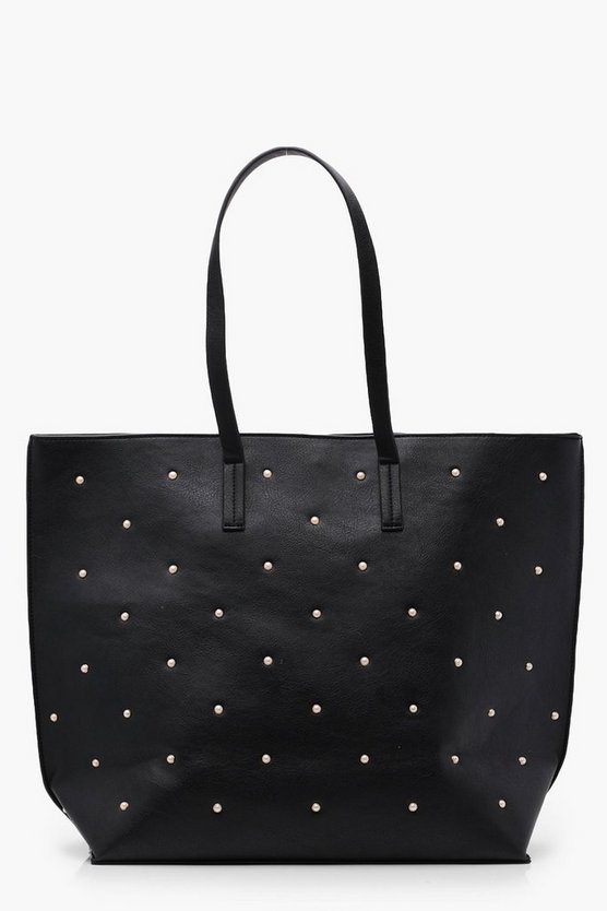 Mia Pearl Studded Shopper Bag