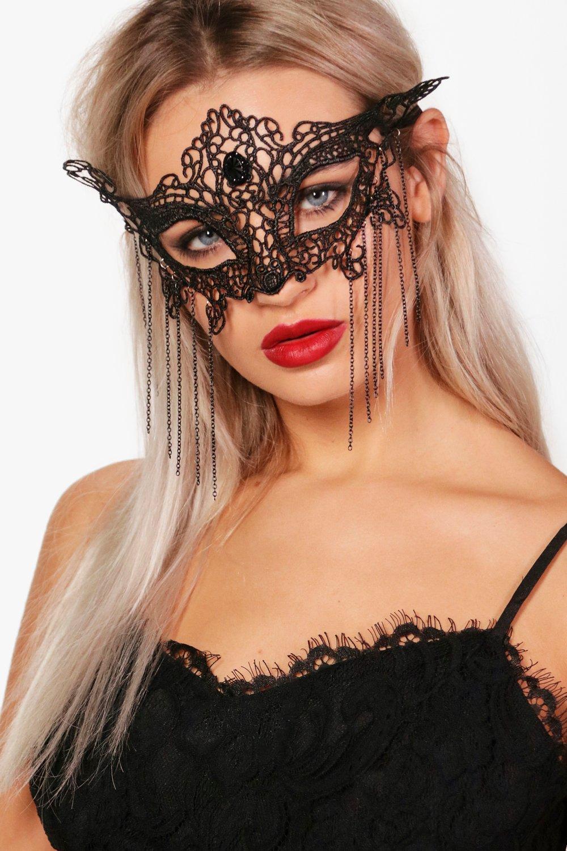 Butterfly Lace Face Mask - black - Black Butterfly