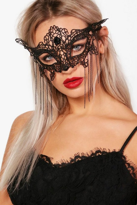 Black Butterfly Lace Face Mask