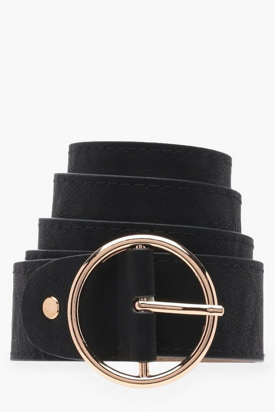 Ingrid Oversized Circle Buckle Waist Belt
