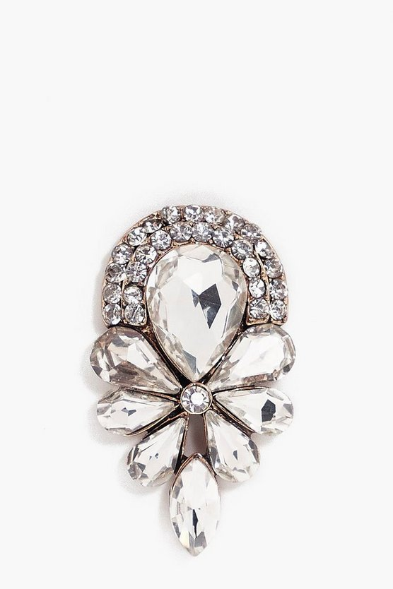 Inna Diamante Detail Statement Brooch
