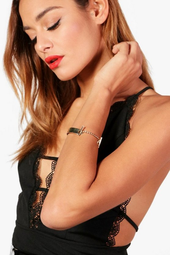 Megan Chain Detail Chunky Arm Cuff