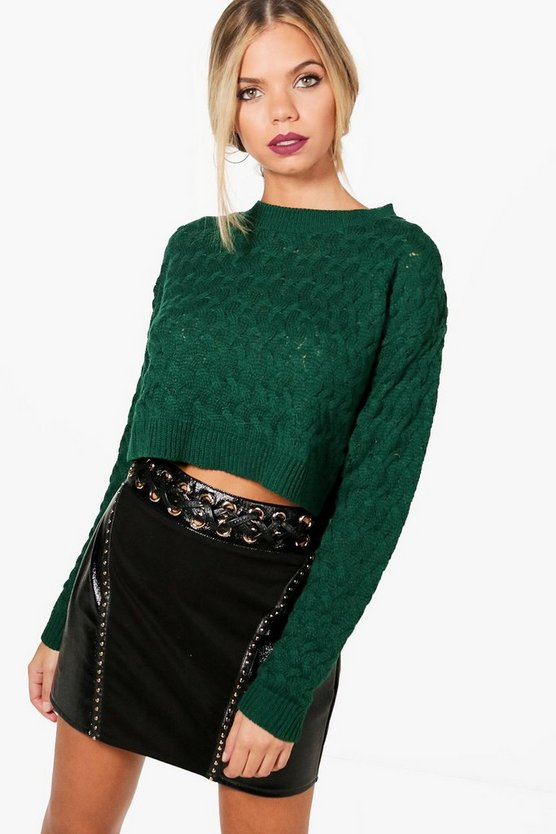 Sarah Cable Crop Jumper