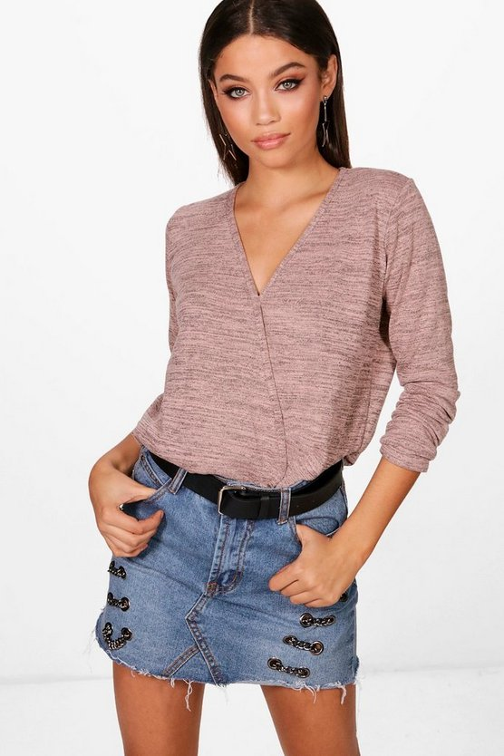 Isabella Wrap Over Knitted Top